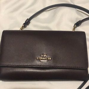 Coach wallet/ crossbody convertable